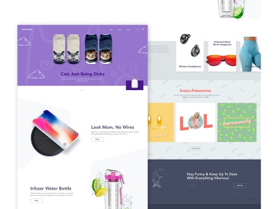 Mememeify meme website webdesign business visual design general store shopify e-commerce