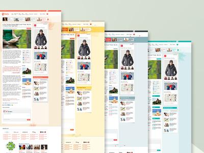 MyDaily web lifestyle blog aol mydaily visual design