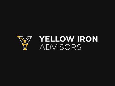 Yellow Iron Advisors heavy equipment business branding consultancy mining identity logo