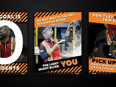 Jurassic Arc jurassic mining safety poster design