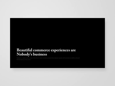 Nobody Cares About You landing page homepage animations ux studio web web development webdesign website