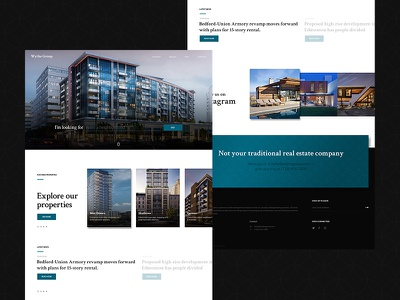 Wythe Group landing page business real estate design web