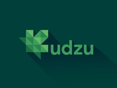 Kudzu Logo geometric simple flat branding minimalism nature logo