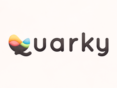 Quarky Logo Style Experiment redesign pastel logo branding minimal texture simple vector flat