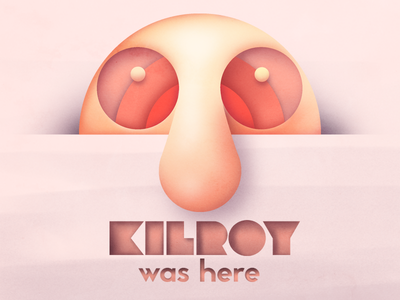 Kilroy Was Here wwii graffiti texture vector character design abstract geometry gradient minimalist simple