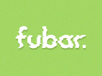Fubar Logo- experimenting with distortion techniques branding logo flat modern noise simple distortion fubar