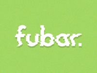 Fubar Logo- experimenting with distortion techniques