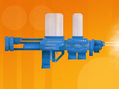 Style Exploration- Ray Gun james gilliard vector illustration scifi raygun