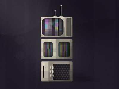 Retro Tower minimalist illustration vector retro