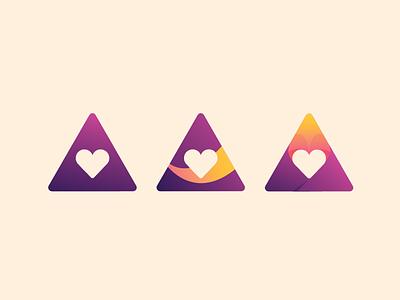 Branding Experiments #1 photoshop illustrator wip minimalism gradient vector logo