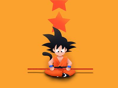 Young Goku manga dragonball akira toriyama goku character simple illustration