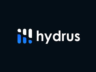 hydrus logo concept #01 data rain water negative space logo negative space design minimal simple vector minimalism branding illustrator minimalist logo wave