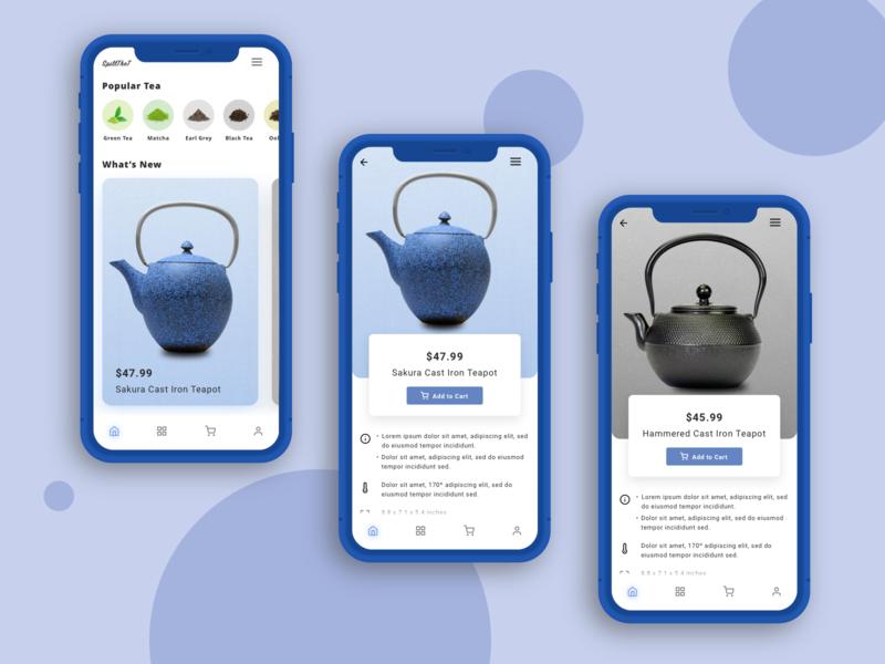 Mobile App - Tea Concept