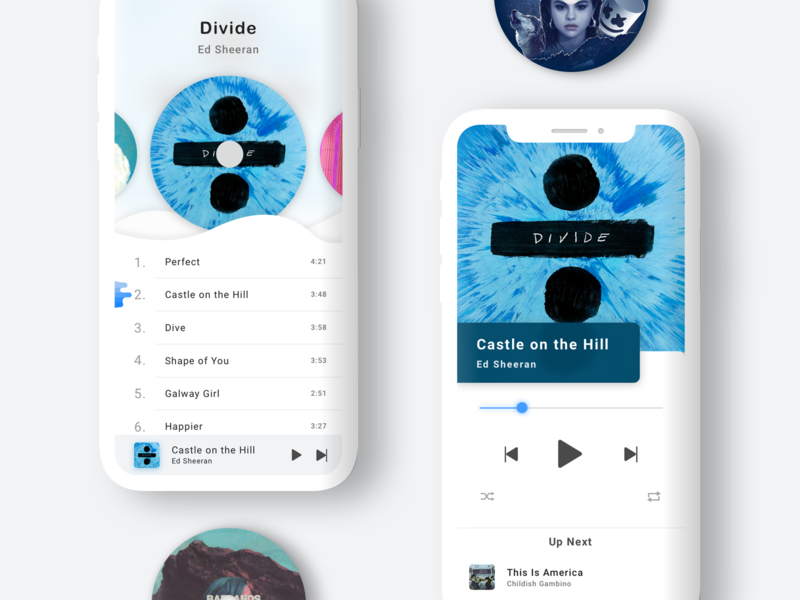 Daily UI #009: Music Player daily ui 9 mobile app app daily ui challenge 9 ui challenge 9 music player design mobile blue ui design app concept mobile app experience 100 day ui challenge ui daily ui challenge 100-day-ui-challenge