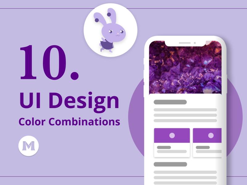 10 UI Design Color Combinations for Inspiration uxdesign ux blog purple design mobile mobile app ui design ui