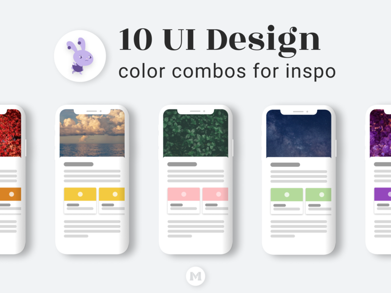 10 UI Design Color Combos for Inspo logo website branding blog ux orange pink purple blue mobile design mobile app app ui design ui