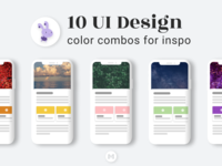 10 UI Design Color Combos for Inspo