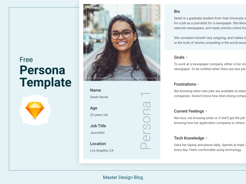 Free Persona Template Sketch By Alexander Georges On Dribbble