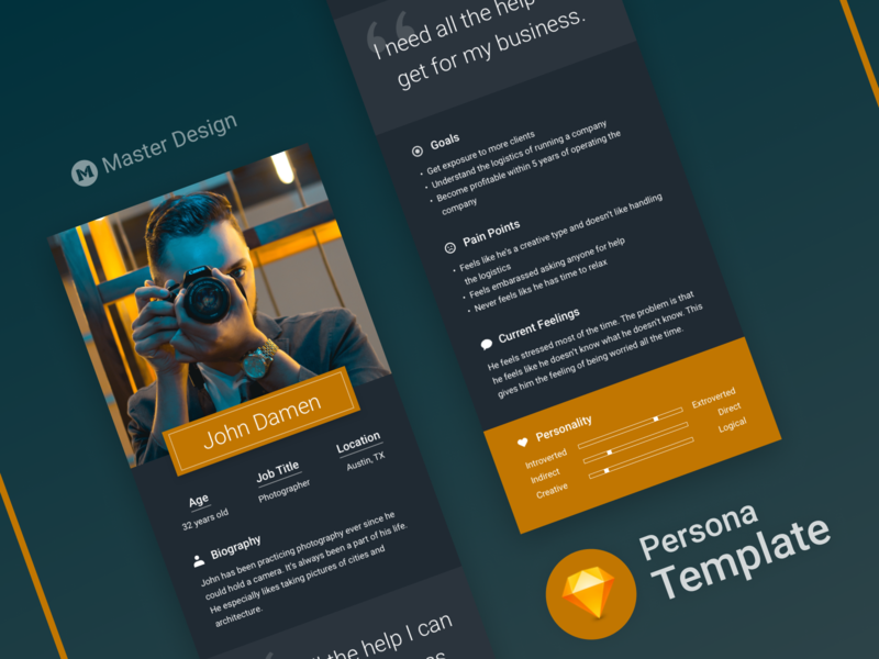 Persona Templates Bundle [Sketch] by Alexander Georges on Dribbble