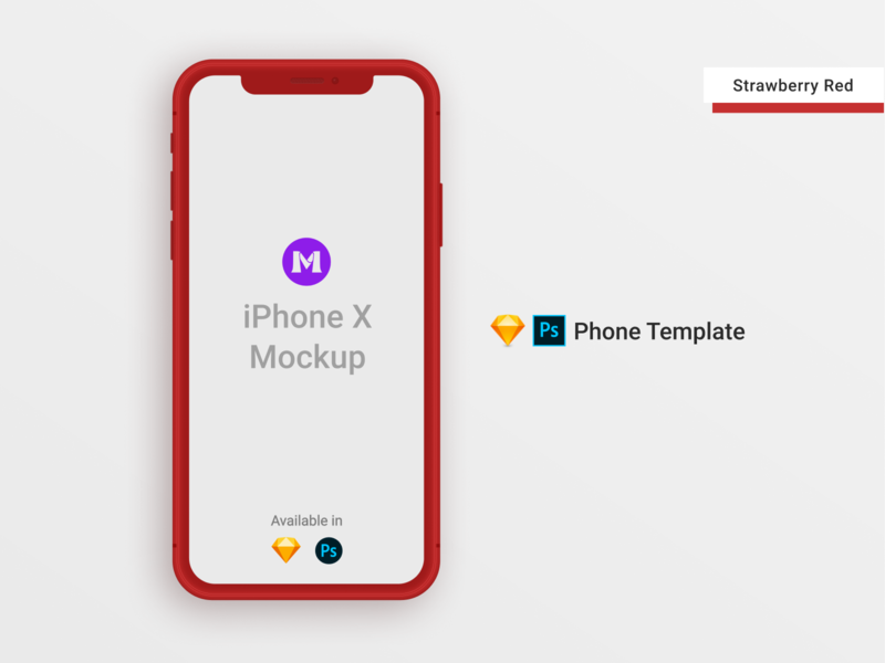 iPhone X Clay Template/Mockup [PSD] [Sketch] red photoshop mockup photoshop templates photoshop template psd design psd mockups iphone template iphone xs mockup iphone x iphonexs iphone xs iphone mockup template iphone mockup iphone x mockup iphone mockups mockup template sketch psd mockup psd template sketch template