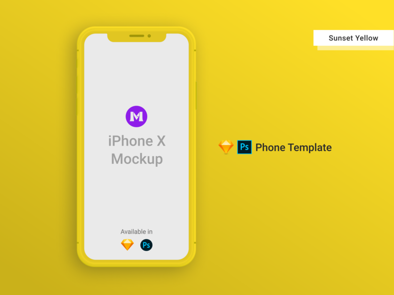 iPhone X Clay Template/Mockup [PSD] [Sketch] yellow photoshop mockup photoshop templates photoshop template psd design psd mockups iphone template iphone xs mockup iphone x iphonexs iphone xs iphone mockup template iphone mockup iphone x mockup iphone mockups mockup template sketch psd mockup psd template sketch template