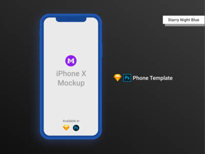 iPhone X Clay Template/Mockup [PSD] [Sketch]