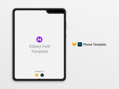 Galaxy Fold Clay Template/Mockup [PSD] [Sketch]