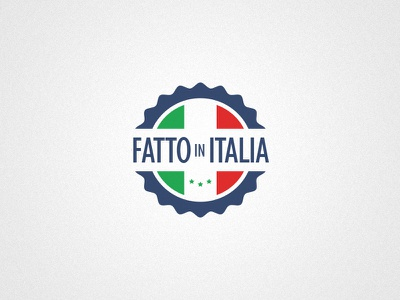 Fatto In Italia italia badge stamp label