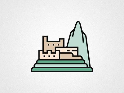 A legendary icon machu picchu peru icon vector illustration design