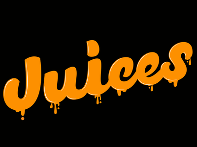 Creative Juices reflect shine hand drawn type typography type logo type vector drip juices