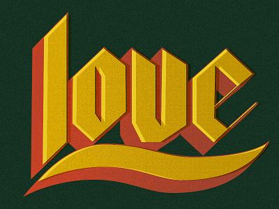 Love halftone texture retro offset black black lettering love phraseology