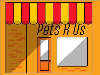Fonts.com Hero Banner WIP wip illustration pet store store front cafe banner hero fonts.com