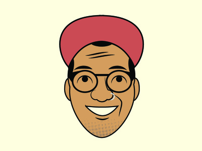 Hey! It's me! texture halftone halftone chin design illustration self portrait