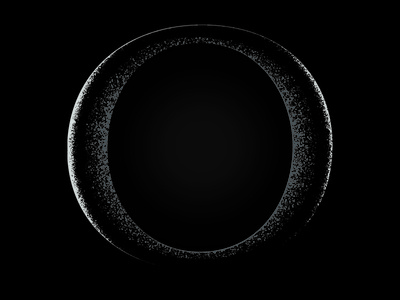 O - 36 days of type 36daysoftype moon texture o