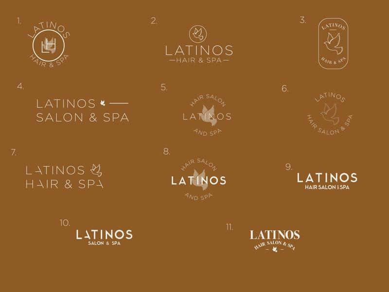 Latinos Salon & Spa re-brand. letters graphic design branding rebrand logo