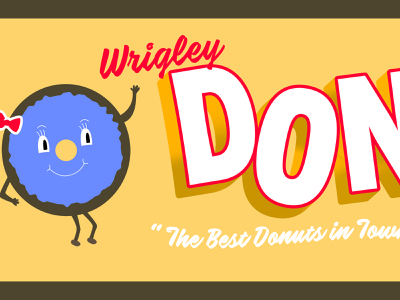 Wrigley Donut Shop donuts lost type graphic design design sign painter sign painting