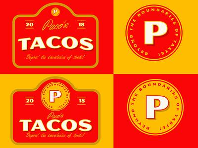 Pacos Tacos restaurant design restaurant logo design logo branding design
