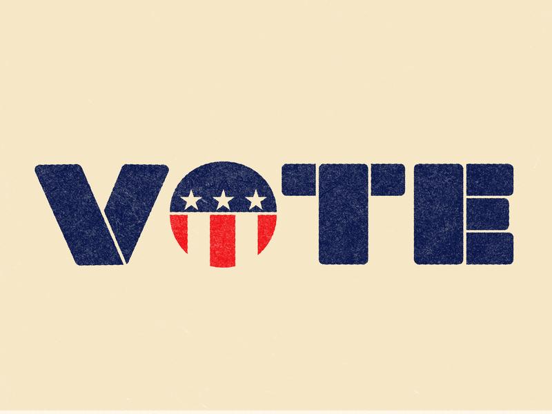 Vote! vote design lettering type typography texture