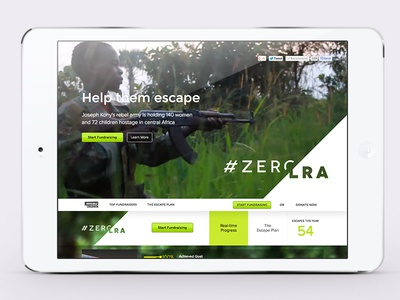 #zeroLRA Website invisible children web design ui joseph kony