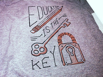 Education invisible children hand-drawn education t-shirt
