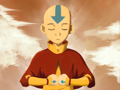 Aang Digital Painting. Print Available. digital painting illustration procreate ipad air bender avatar atla