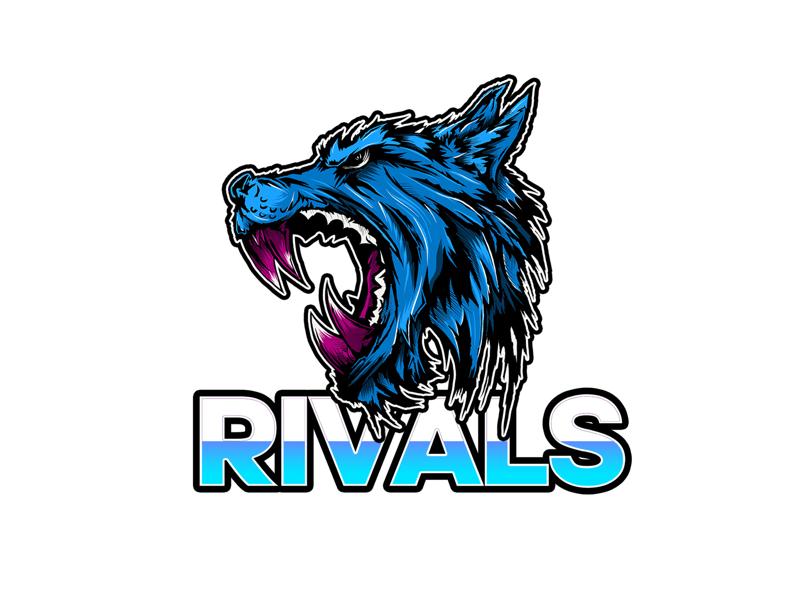 E-Sports Logo procreate ipad pro ipad illustrator typography mascot logo streaming gaming e-sports e sports video games wolf illustration