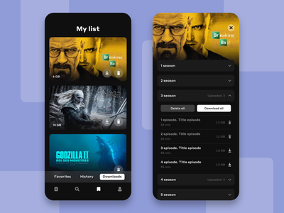Download management tvshow tvseries movies movies app app player netflix episode ux ui