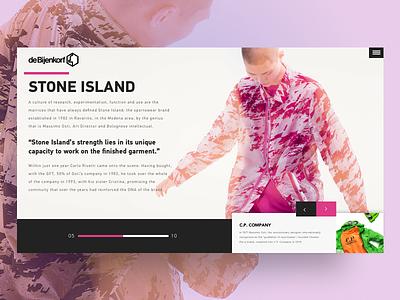 Stone Island   Dribbble fashion visual design ui