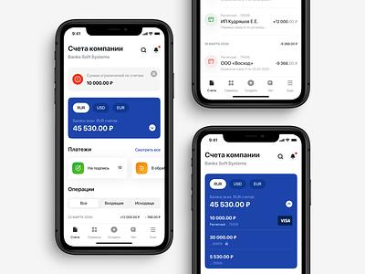 Banking app entity bussines clean app mobile ui fintech finance money banking banking app