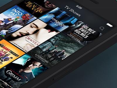 TV Show app film iphone interface clean ios 7 tv show serial ux ui app ios design