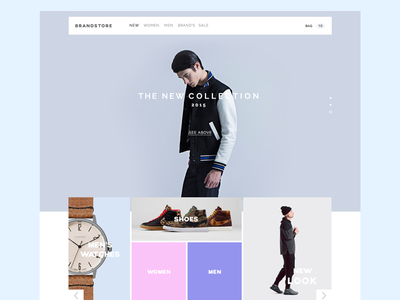 Store. WIP ecommerce web store minimal clean shop