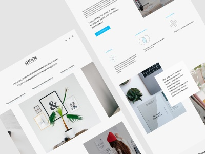 Clean personal website for marketing consultant branding clean landing ui creative website web russia design