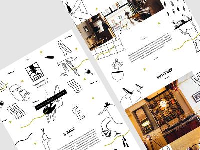 Moscow bar   Landing page cafe illustration landing ui clean bar creative website web russia design