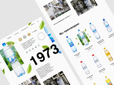 Mineral water factory factory blue water branding parralax ui creative website web russia design